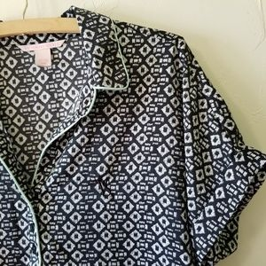 Victoria's Secret Intimates & Sleepwear - Victoria's Secret Black and White Sleep Shirt